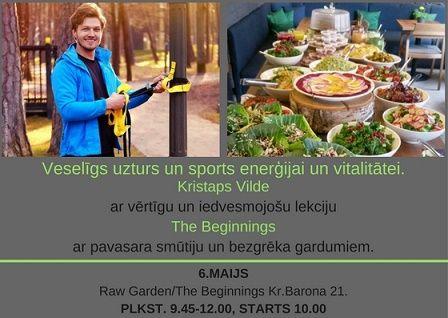 Veselīgs uzturs un sports kopā ar Kristapu Vildi