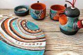 Māla trauku izgatavošana un apgleznošana ar tālo kultūru ornamentiem (6. nodarbība)