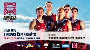 FIBA U18 Eiropas čempionāts basketbolā. Ventspils.